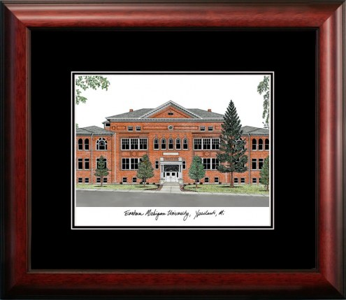 Eastern Michigan Eagles Campus Images Lithograph