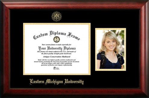 Eastern Michigan Eagles Gold Embossed Diploma Frame with Portrait