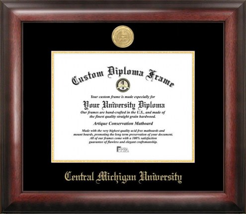 Central Michigan Chippewas Gold Embossed Diploma Frame