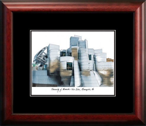 Minnesota Golden Gophers Campus Images Lithograph