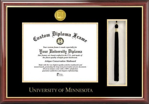 Minnesota Golden Gophers Diploma Frame & Tassel Box