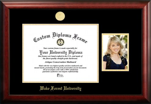 Wake Forest Demon Deacons Gold Embossed Diploma Frame with Portrait