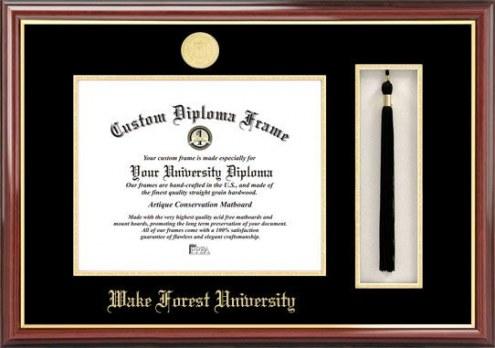 Wake Forest Demon Deacons Diploma Frame & Tassel Box
