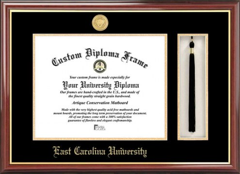 East Carolina Pirates Diploma Frame & Tassel Box