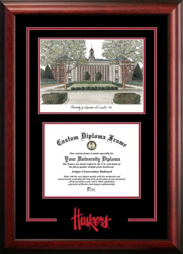 Nebraska Cornhuskers Spirit Graduate Diploma Frame