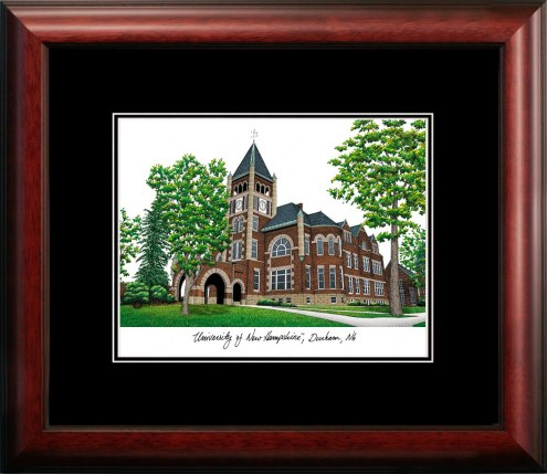 New Hampshire Wildcats Campus Images Lithograph