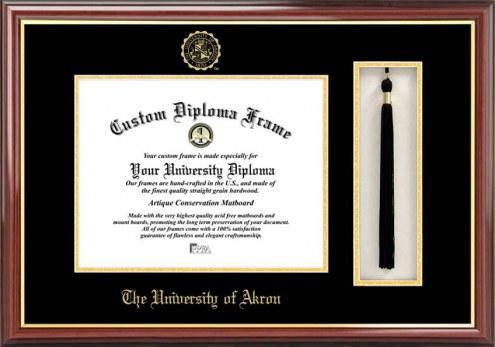 Akron Zips Diploma Frame & Tassel Box