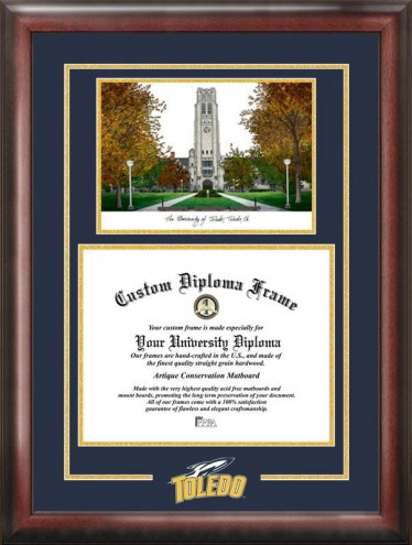 Toledo Rockets Spirit Graduate Diploma Frame