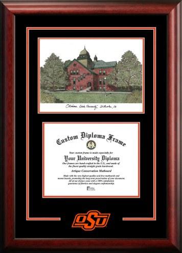 Oklahoma State Cowboys Spirit Graduate Diploma Frame