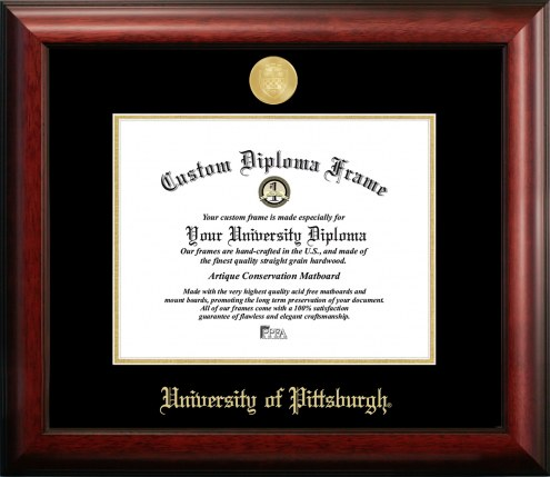Pittsburgh Panthers Gold Embossed Diploma Frame