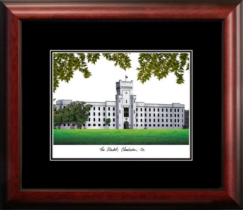 Citadel Bulldogs Campus Images Lithograph
