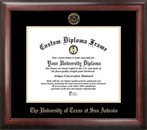 Texas San Antonio Roadrunners Gold Embossed Diploma Frame