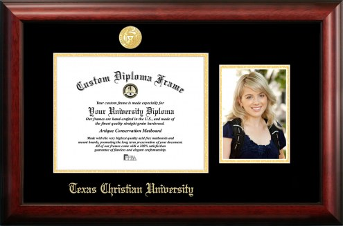 Texas Christian Horned Frogs Gold Embossed Diploma Frame with Portrait