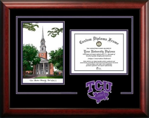 Texas Christian Horned Frogs Spirit Graduate Diploma Frame
