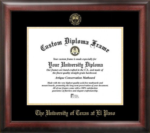 UTEP Miners Gold Embossed Diploma Frame