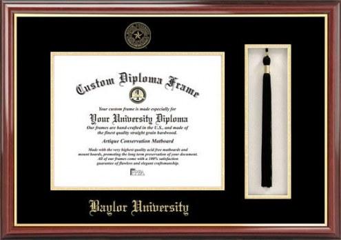 Baylor Bears Diploma Frame & Tassel Box