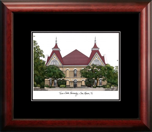 Texas State Bobcats Campus Images Lithograph