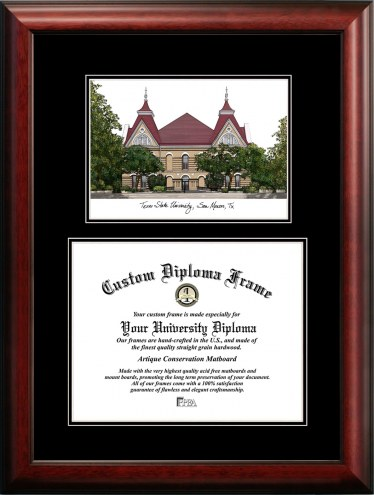 Texas State Bobcats Diplomate Diploma Frame