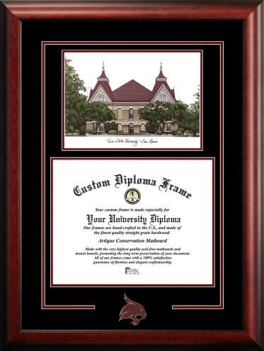 Texas State Bobcats Spirit Graduate Diploma Frame
