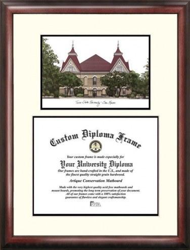 Texas State Bobcats Scholar Diploma Frame