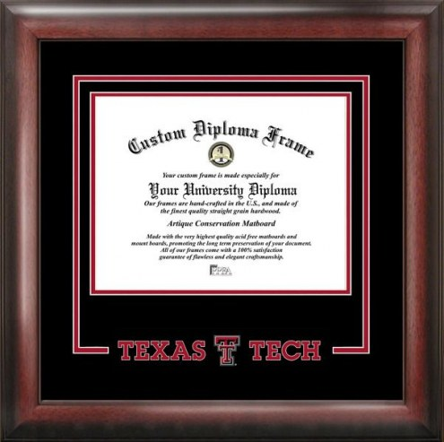 Texas Tech Red Raiders Spirit Diploma Frame