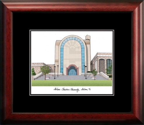 Abilene Christian Wildcats Campus Images Lithograph