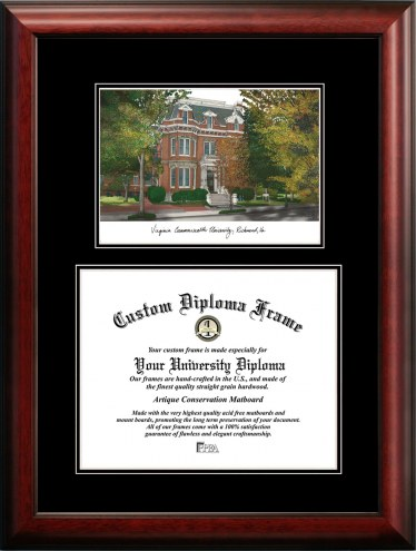 Virginia Commonwealth Rams Diplomate Diploma Frame