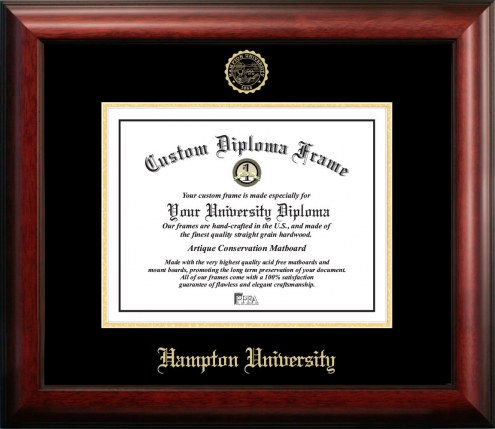 Hampton Pirates Gold Embossed Diploma Frame
