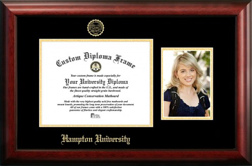 Hampton Pirates Gold Embossed Diploma Frame with Portrait