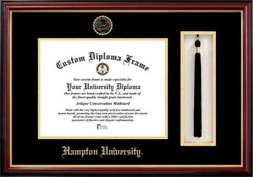 Hampton Pirates Diploma Frame & Tassel Box