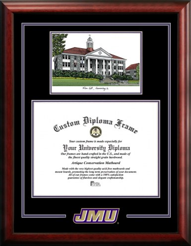 James Madison Dukes Spirit Graduate Diploma Frame