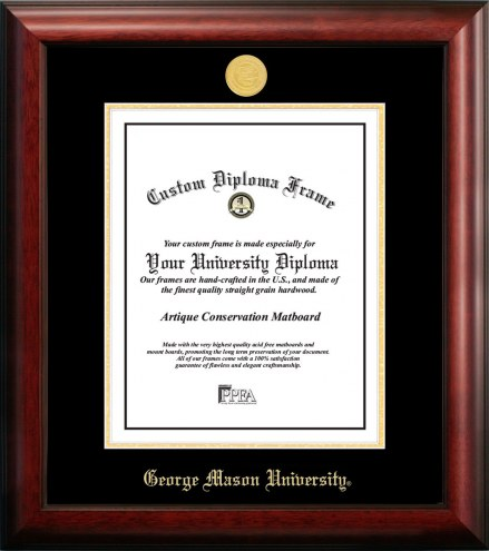 George Mason Patriots Gold Embossed Diploma Frame