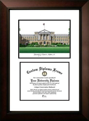 Wisconsin Badgers Legacy Scholar Diploma Frame