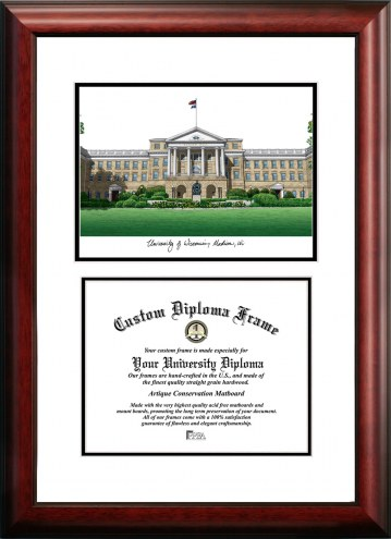 Wisconsin Badgers Scholar Diploma Frame