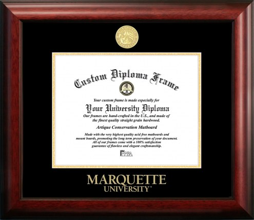 Marquette Golden Eagles Gold Embossed Diploma Frame