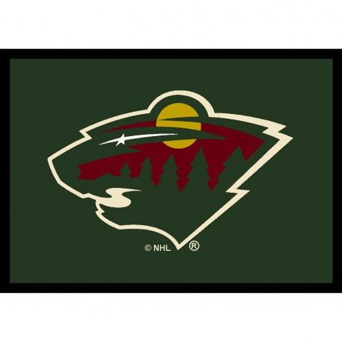 Minnesota Wild NHL Team Spirit Area Rug