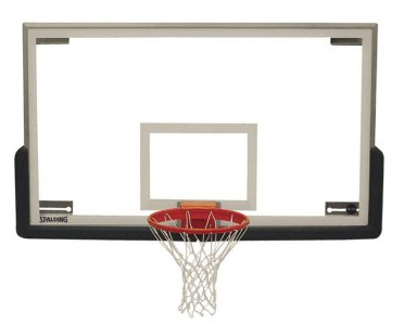 Spalding SuperGlass Collegiate Basketball Backboard, Rim, & Padding Package