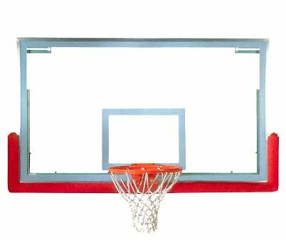 Spalding SuperGlass Pro Basketball Backboard, Rim, & Padding Package