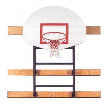 Spalding Wall Braced Fold-Up Basketball Hoop Backstop