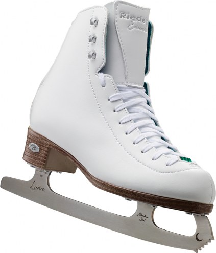 Riedell Emerald Ladies Figure Skates with Eclipse Luna Blades