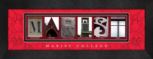 Marist Red Foxes Campus Letter Art