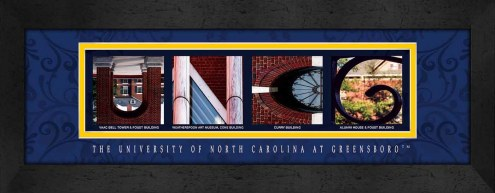 UNC Greensboro Spartans Campus Letter Art