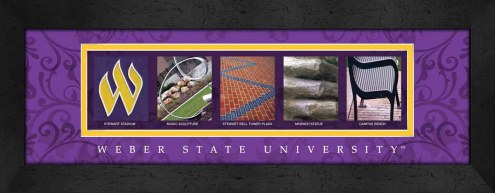 Weber State Wildcats Campus Letter Art