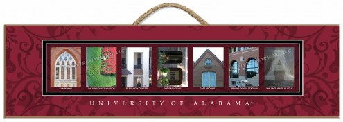 Alabama Crimson Tide Campus Letter Art