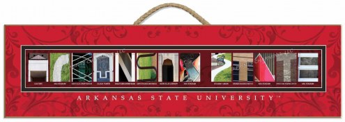 Arkansas State Red Wolves Campus Letter Art
