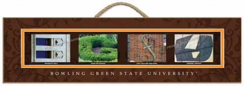 Bowling Green State Falcons Campus Letter Art