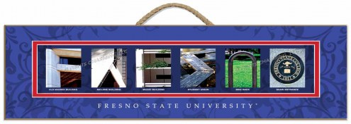 Fresno State Bulldogs Campus Letter Art