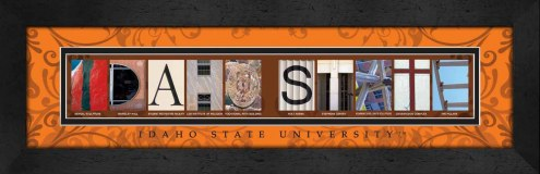 Idaho State Bengals Campus Letter Art