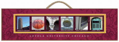 Loyola Chicago Ramblers Campus Letter Art