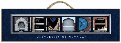 Nevada Wolf Pack Campus Letter Art